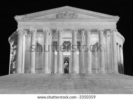 Jefferson Memorial at Night - stock photo