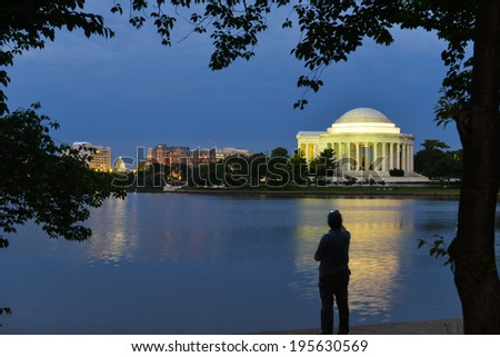 Jefferson Memorial at night- Washington DC, United States