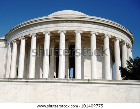 Jefferson Memorial in Washington DC ,USA - stock photo