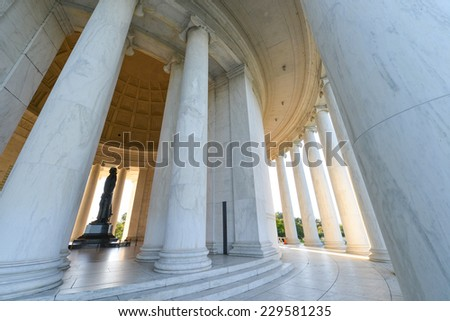 Jefferson Memorial - Washington DC, United States of America  - stock photo