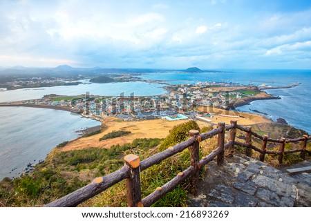 Jeju do beach Island, South Korea - stock photo