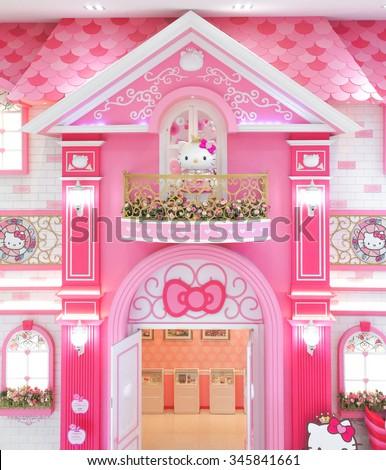 Where Is The Hello Kitty House Located sanrio banco de imagens, fotos e vetores livres de direitos