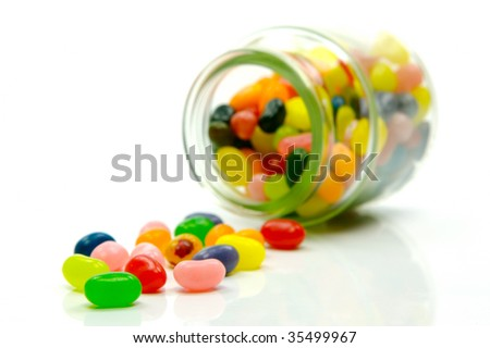 Jelly babies isolated on a white background - stock photo