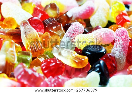 Jelly bean candies as background. - stock photo