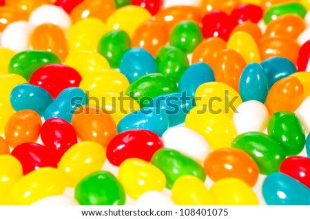 Jelly beans close up background - stock photo