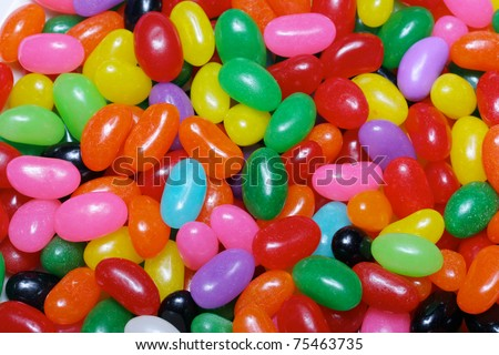 Jelly Beans - Close up of brightly colored jelly beans