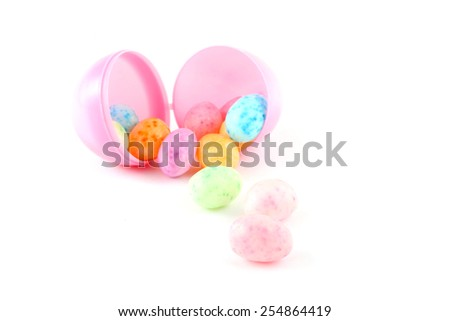 Jelly beans isolated over a white background - stock photo