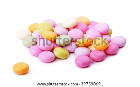 Jelly candies isolated on a white background  - stock photo