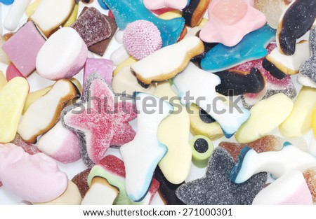Jelly Candy background - stock photo
