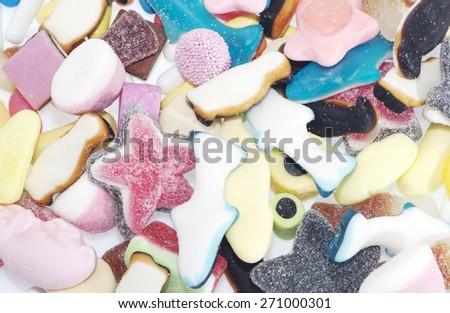 Jelly Candy background - stock photo