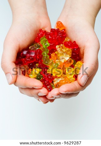 Jelly candy bears. - stock photo