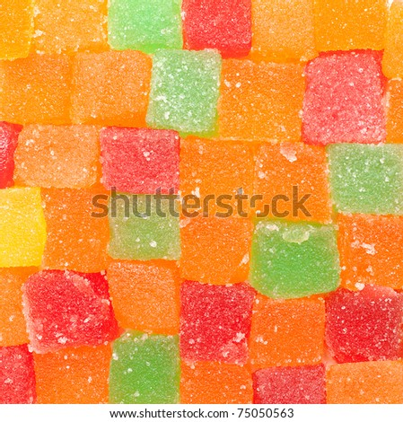 jelly fruit candies background - stock photo