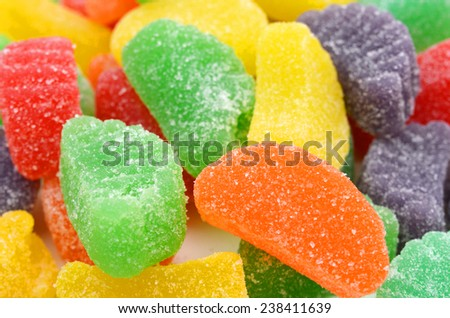 jelly sugar candies isolated on background  - stock photo