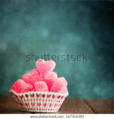 Jelly sweets heart - stock photo