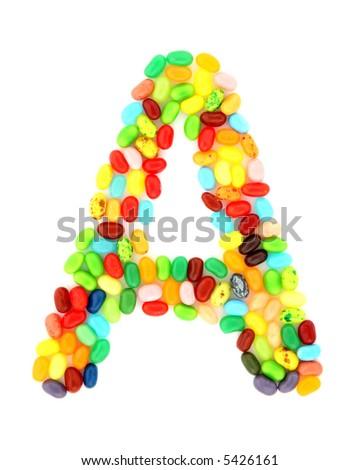 jellybean A - stock photo