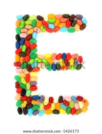 jellybean E - stock photo