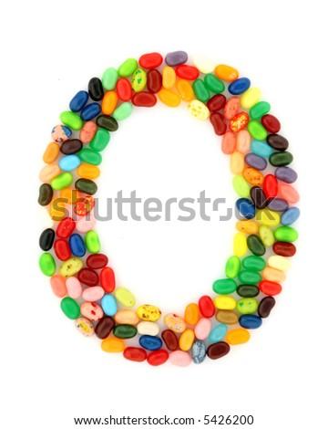 jellybean O - stock photo