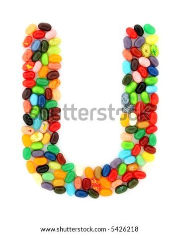 jellybean U - stock photo