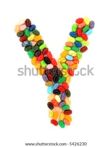 jellybean Y - stock photo