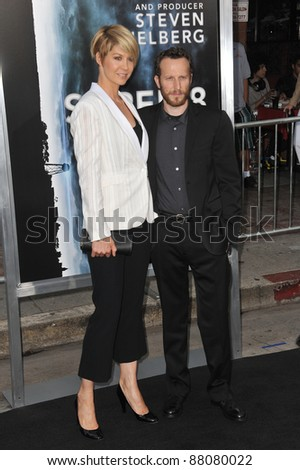 "Jenna Elfman & husband Bodhi Elfman at the Los Angeles premiere of ""Super 8"" at the Regency Village Theatre, Westwood. June 8, 2011  Los Angeles, CA Picture: Paul Smith / Featureflash"
