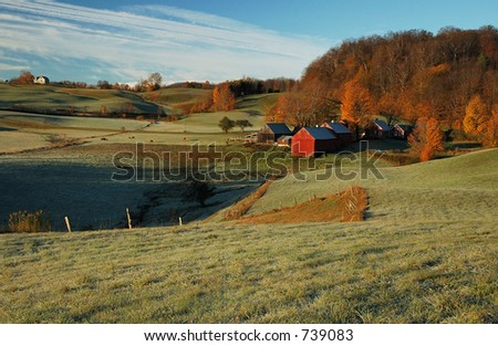 Jenne Farm, Vermont USA - stock photo