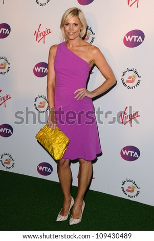 Jenni Falconer arriving for the 2012 WTA Pre-Wimbledon Party at the Roof Gardens in Kensington, London. 21/06/2012 Picture by: Steve Vas / Featureflash - stock photo