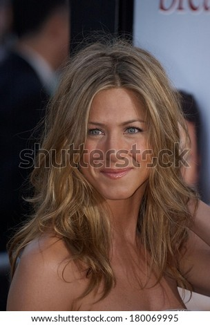 Jennifer Aniston at THE BREAK UP Premiere, Mann's Village Theatre in Westwood, Los Angeles, CA, May 22, 2006 - stock photo