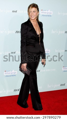 Jennifer Aniston at the Los Angeles premiere of 'He's Just Not That Into You' held at the Grauman's Chinese Theater in Hollywood on February 2, 2009.   - stock photo