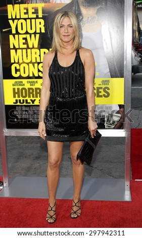 Jennifer Aniston at the Los Angeles premiere of 'Horrible Bosses' held at the Grauman's Chinese Theatre in Hollywood on June 30, 2011.  - stock photo