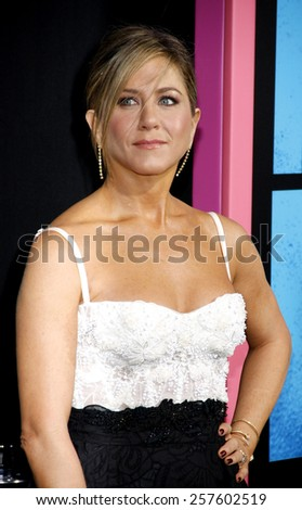 Jennifer Aniston at the Los Angeles premiere of 'Horrible Bosses 2' held at the TCL Chinese Theatre in Los Angeles on November 20, 2014 in Los Angeles, California.  - stock photo