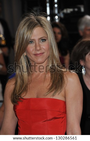 Jennifer Aniston at the 85th Academy Awards at the Dolby Theatre, Hollywood. February 24, 2013  Los Angeles, CA Picture: Paul Smith
