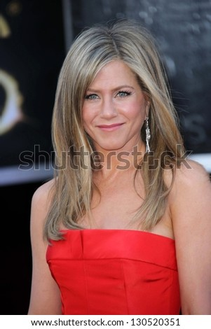 Jennifer Aniston at the 85th Annual Academy Awards Arrivals, Dolby Theater, Hollywood, CA 02-24-13 - stock photo