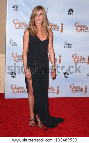 Jennifer Aniston  at the 67th Annual Golden Globe Awards Press Room, Beverly Hilton Hotel, Beverly Hills, CA. 01-17-10 - stock photo