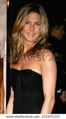 """Jennifer Aniston attends the World Premiere of """"Rumor Has It"""" held at the Grauman's Chinese Theater in Hollywood, California, United States on December 15, 2005.  - stock photo"""