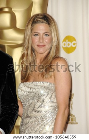 Jennifer Aniston in the Press Room at the 81st Annual Academy Awards. Kodak Theatre, Hollywood, CA. 02-22-09 - stock photo