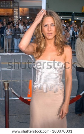 Jennifer Aniston, wearing a Stella McCartney dress, at THE BREAK UP Premiere, Mann's Village Theatre in Westwood, Los Angeles, CA, May 22, 2006 - stock photo