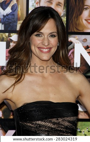 Jennifer Garner at the Los Angeles premiere of 'Valentine's Day' held at the Grauman's Chinese Theater in Hollywood on February 8, 2010.  - stock photo