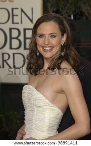 JENNIFER GARNER at the 61st Annual Golden Globe Awards at the Beverly Hilton Hotel, Beverly Hills, CA. January 25, 2004 - stock photo