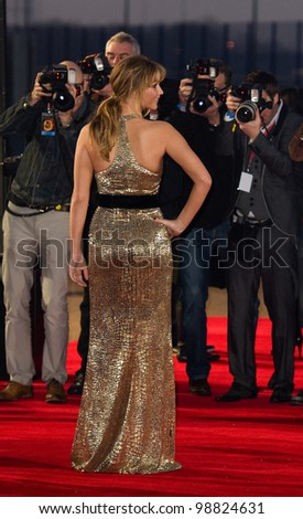 Jennifer Lawrence arriving at The Hunger Games Premiere, at the 02 Arena, London. 14/03/2012 Picture by: Simon Burchell / Featureflash - stock photo