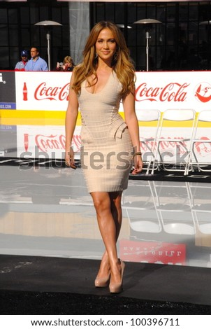 Jennifer Lopez at a Boys And Girls Clubs Of America Announcement With Denzel Washington And Jennifer Lopez, Nokia Theatre L.A. Live, Los Angeles, CA. 11-30-10 - stock photo