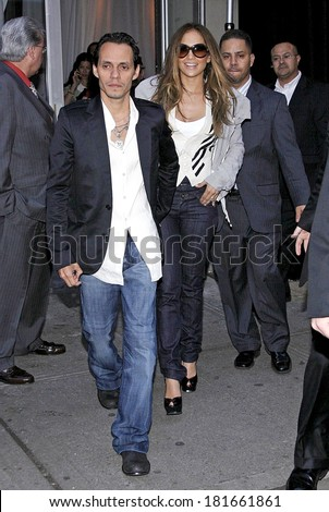 "Jennifer Lopez, Marc Anthony at departures for Jennifer Lopez Leaves Rehearsal for Como Ama Una Mujer"" Album Launch Party"