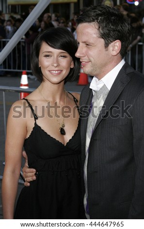 Jennifer Love Hewitt and Ross McCall at the World premiere of 'The Break-Up' held at the Mann Village Theatre in Westwood,  USA on May 22, 2006. - stock photo