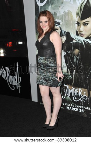 "Jennifer Stone at the Los Angeles premiere of ""Sucker Punch"" at Grauman's Chinese Theatre, Hollywood. March 23, 2011  Los Angeles, CA Picture: Paul Smith / Featureflash"