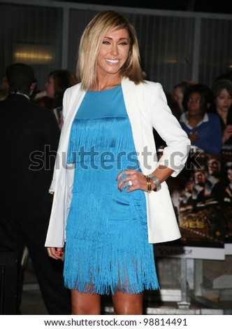Jenny Frost arriving at the European Premiere of 'The Hunger Games' at the O2 Arena, London. 14/03/2012 Picture by: Alexandra Glen / Featureflash - stock photo