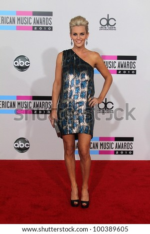 Jenny McCarthy at the 2010 American Music Awards Arrivals, Nokia Theater, Los Angeles, CA. 11-21-10