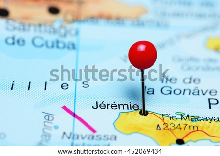 Jeremie Pinned On Map Haiti Stock Photo 452069434 Shutterstock