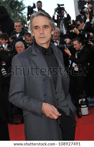 "Jeremy Irons at the gala screening of ""Killing Them Softly"" in competition at the 65th Festival de Cannes. May 22, 2012  Cannes, France Picture: Paul Smith / Featureflash"