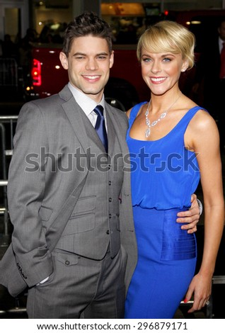 Jeremy Jordan and Ashley Spencer at the Los Angeles premiere of 'Joyful Noise' held at the Grauman's Chinese Theatre in Hollywood on January 9, 2012.