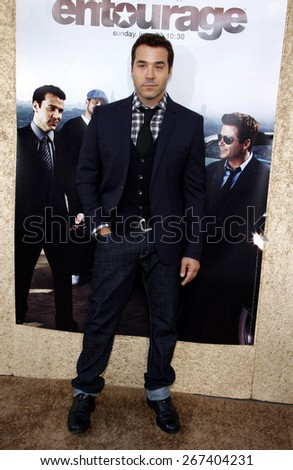 Jeremy Piven at the HBO's 'Entourage' Season 7 Premiere held at the Paramount Studios lot in Hollywood on June 16, 2010.