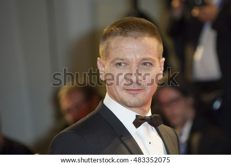 Jeremy Renner attending the premiere of 'Arrival' during the 73rd Venice Film Festival at Sala Grande in Venice, Italy.